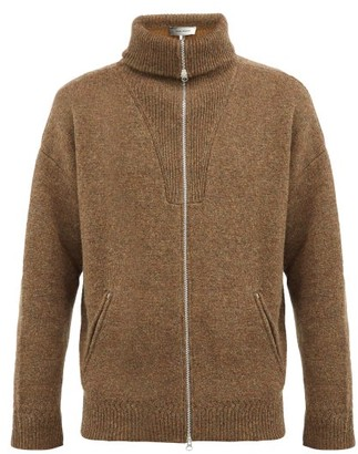 Isabel Marant Marcus Roll-neck Wool-blend Cardigan - Brown