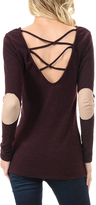 Magic Fit Burgundy Elbow Patch Tunic