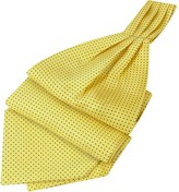 Forzieri Mini Polkadot Yellow Silk Ascot