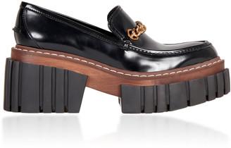 Stella McCartney Platform Patent Leather Loafers