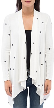 Bobeau B Collection By B Collection by Amie Cozy Printed Open Waterfall Cardigan