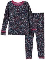 Cuddl Duds Toddler Girl 2-pc. Printed Base Layer Top & Pants Set