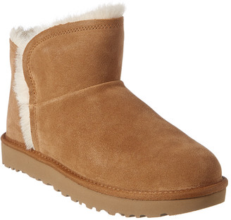 UGG Women's Mini Fluff High-Low Suede Boot