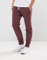 Abercrombie & Fitch Cuffed Joggers Core Slim Fit In Burgundy