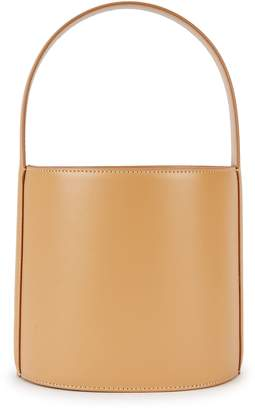 STAUD Bissett Camel Leather Bucket Bag