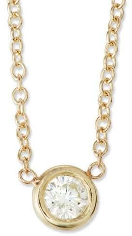 Chicco Zoe 14k Single Floating Diamond Choker Necklace