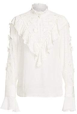 See by Chloe Women's Lace Eyelet Blouse