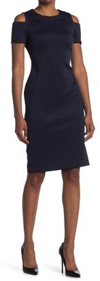 Calvin Klein Cold Shoulder Sheath Dress