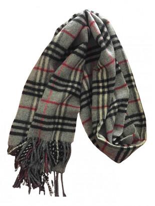 Burberry Grey Wool Scarves & pocket squares