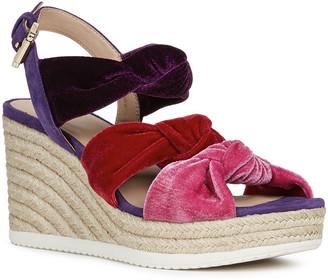 Geox Ponza Rainbow Knotted Velvet Espadrille Sandals