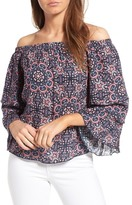 Ella Moss Minoro Mosaic Off-the-Shoulder Blouse