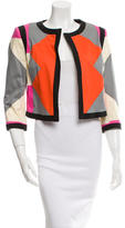 Derek Lam 10 Crosby Collarless Open Front Jacket