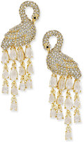 Kate Spade Gold-Tone Pavé and Crystal Drop Earrings
