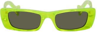 Gucci Yellow Rectangular Sunglasses