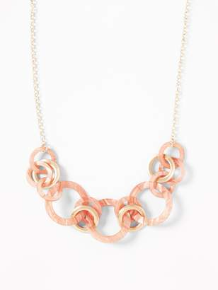 Old Navy Coral-Stone Ring Statement Necklace for Women