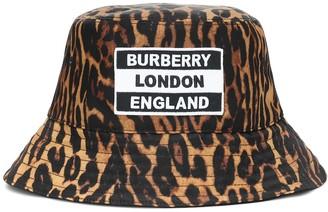 Burberry Leopard-print bucket hat