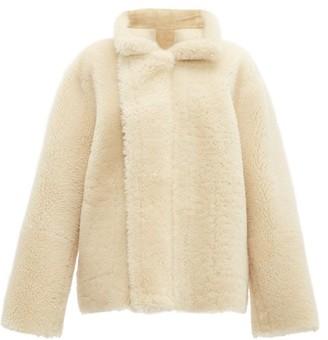 Bottega Veneta Reversible Shearling And Suede Jacket - Cream