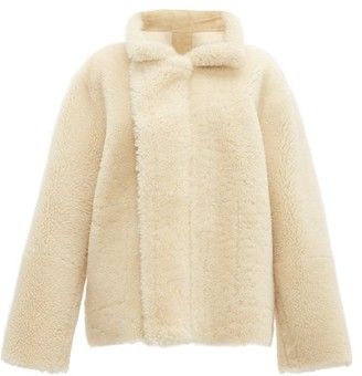 Bottega Veneta Reversible Shearling And Suede Jacket - Womens - Cream