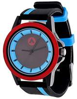 Airwalk Automatic Metal and Silicone Casual Watch, Color:Black (Model: AWW-5099-BL)