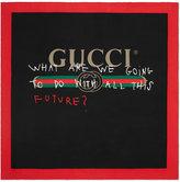 Gucci Coco Capitán logo silk scarf