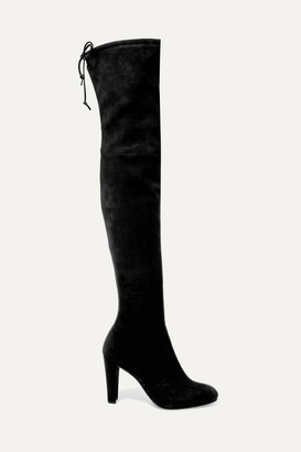 Stuart Weitzman Highland Stretch-suede Over-the-knee Boots - Black