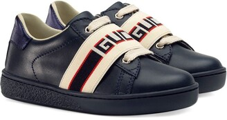 Gucci Children Toddler Ace sneaker with Gucci stripe