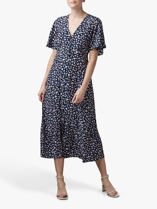 Lily & Lionel Ditsy Floral Lola Midi Dress, Navy