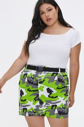 Forever 21 Plus Size Camo Print Mini Skirt