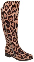 Brinley Co. Comfort by Womens Wide Calf Faux Suede Riding Boot