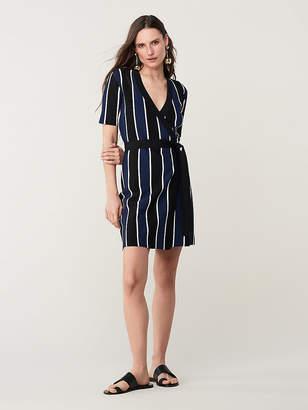 Diane von Furstenberg Iris Knit Wrap Dress