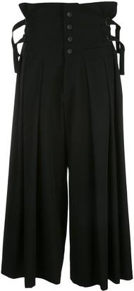 Yohji Yamamoto Wide Leg Cropped Trousers