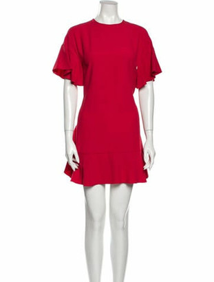 RED Valentino Crew Neck Mini Dress Red