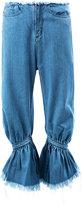 Marques Almeida Marques'almeida - gathered cropped jeans - women - Cotton - 6