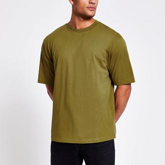 River Island Khaki short sleeve oversized T-shirt
