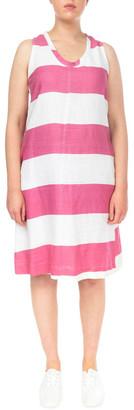 Jump Block Stripe Linen Dress Brt