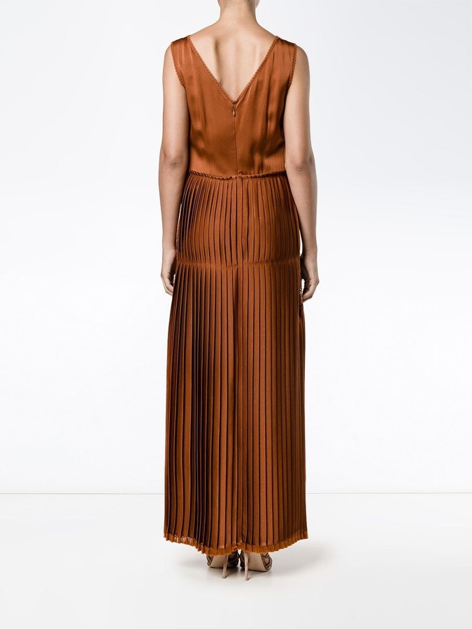 Stella McCartney pleated front lace dress