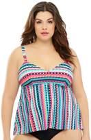 Costa Del Sol Stripe Story Camisole Separate Tankini Top