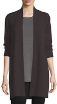 Eileen Fisher Washable Straight Long Cardigan, Plus Size