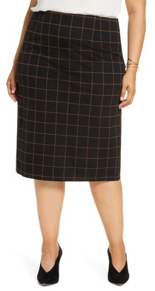 Halogen Plaid Ponte Skirt