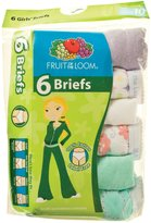 Fruit of the Loom Little Girls' 6-Pack Briefs