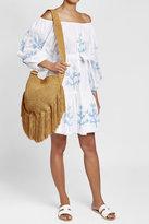 Juliet Dunn Embroidered Mini Dress