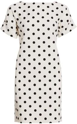 Oscar de la Renta Boatneck Polka Dot T-Shirt Dress
