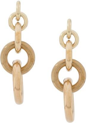 Laura Lombardi Isa hoop chain earrings