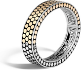 John Hardy Women's Dot 12.5MM Hinged Bangle in Sterling Silver and 18K Gold