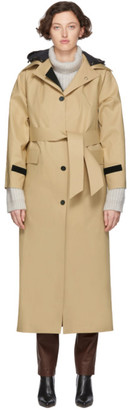 Kassl Editions Beige Hooded Trench Coat