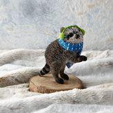 west elm Bottle Brush Ornament - Raccoon
