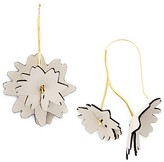 Marni Leather Flower Threader Earrings