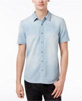 GUESS Men's Textured Stripe Cotton Shirt