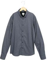 Armani Junior Boys' Long Sleeve Button-Up Shirt