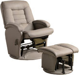 Asstd National Brand Banks Faux-Leather Glider with Ottoman